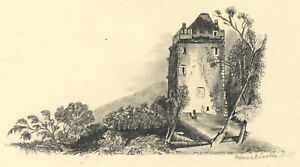 Early 20th Century Graphite Drawing - Newark Castle