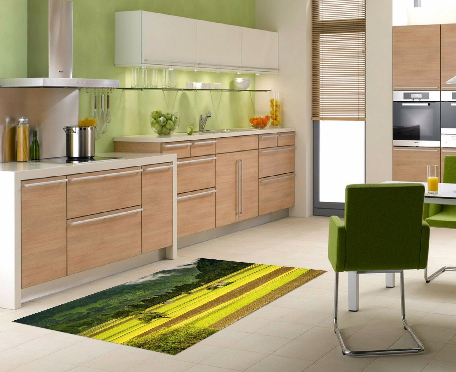 3D Field Hut 7453 Kitchen Mat Floor Murals Wall Print Wall AJ WALLPAPER AU Carly