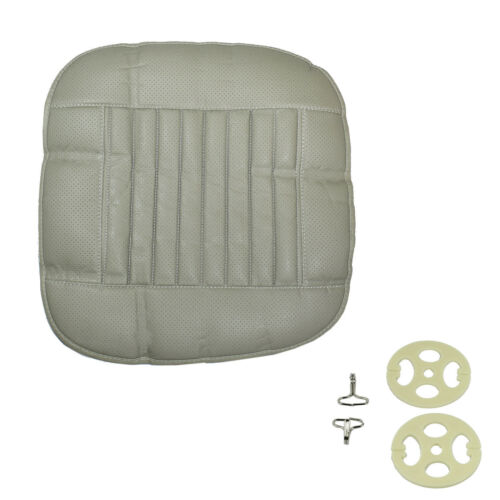 Universal Car Seat Cover PU Leather 3D Breathable Pad Mat for Auto Chair Gray