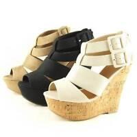 Strappy Wedge Heel Sandals, Women's Shoes, Platforms 6-11us/36.5-42eu/4-9au