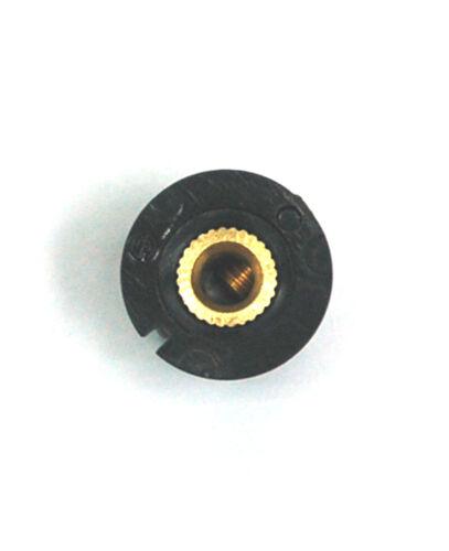 100pc Plástico Redondo Tornillo Tipo perilla agujero de tamaño PN-8G = φ12.5x12mm = φ3.2mm RoHS