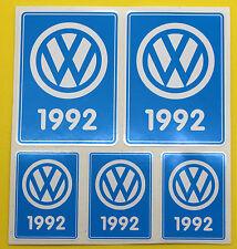 VW 1992 VOLKSWAGEN Jahr Datum sticker INNENGLAS KÄFER CAMPER T3 Rabbit