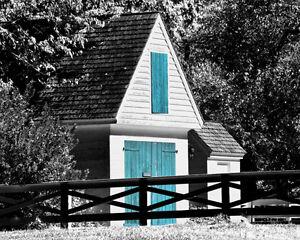 Barn Door Landscape Black White Matted Picture Wall Decor Fine Art Photograph Ebay