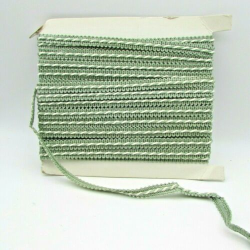 12m wide Light Green Upholstery//Craft Braid sold by the mtr.