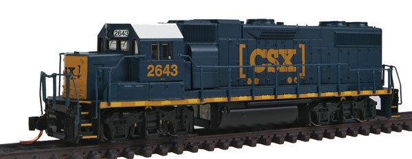 N Gauge - Diesel Locomotive EMD GP38-2 Csx Transportation 50307 Neu