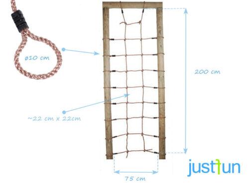 Kletternetz 0,75 x 2,00 Spielturm Kletterturm Kletterseil Strickleiter Netz