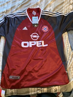ADIDAS FC BAYERN MUNCHEN 2001-02 Opel Munich Vintage Jersey Soccer Rare   eBay
