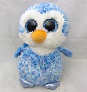 Med-9-inch-TY-Beanie-Boo-034-Ice-Cube-034-penguin-glitter-eyes