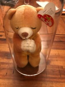 TY Beanie Baby Rare Hope Praying Bear With Errors On Tags!