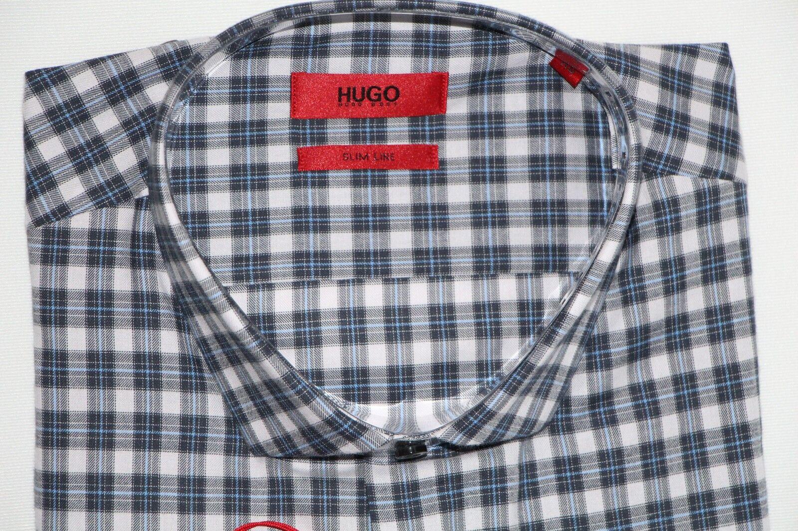 HUGO BOSS HEMD, Mod. Mod. Mod. Edmond, Gr. L, Slim Line, Navy | Diversified In Packaging  2f16fc