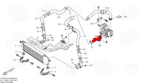 Durite manchon de turbo echangeur Nissan Qashqai 1,5 l Dci 14460BB30A 14460BB31A