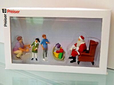 Adattabile Preiser 44931 Personaggi - 1:22,5 - Babbo Natale-nuovo In Scatola Originale-mostra Il Titolo Originale Chiaro E Distintivo