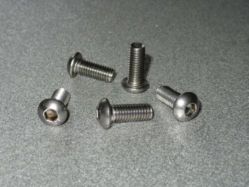 ISO 7380 25 St Innensechskant Linsenkopfschrauben M 4x10 Edelstahl A2  M4