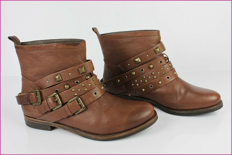Bottines Boots STUDIO TMLS Cuir brown T 41 TBE