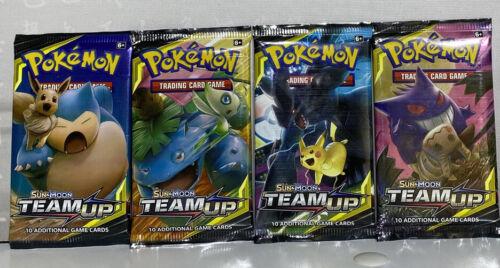 4 x Sun And Moon Team Up Booster Packs. Pokémon TCG TEAM UP FULL ART SET!
