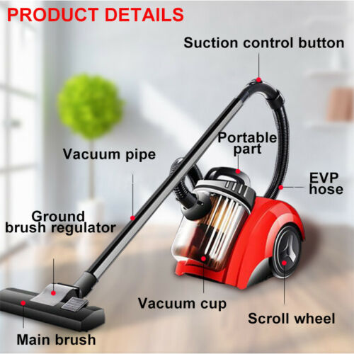 1000W 220V Powered Handheld Vacuum Cleaner 360° Super Suction Dust Cleaning ^Y)