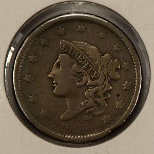 1838 1c Coronet Head Large Cent - Brothel Token - SKU-Y2591