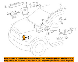 Details about TOYOTA OEM 13-15 Tundra Airbag Air Bag SRS-Front Impact  Sensor 8917309730