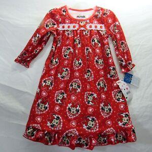 Toddler Girls Long Sleeve Minnie Mouse Christmas Santa Granny Nightgown Pajamas