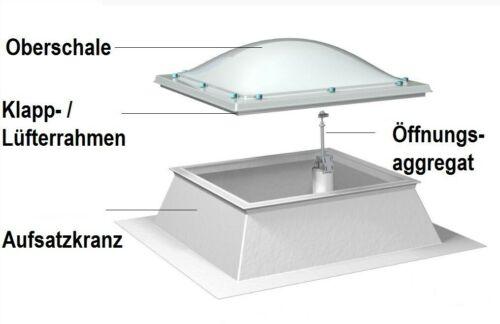 Dachöffnung 60 x 120 , Lichteinfall 40 x 100 Lichtkuppel 60 x 120 cm