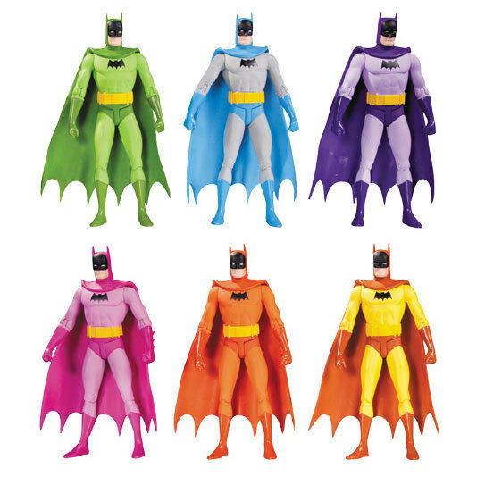 Batman - 7  regenbogen - batman action figure set (6) von dc comics   neue