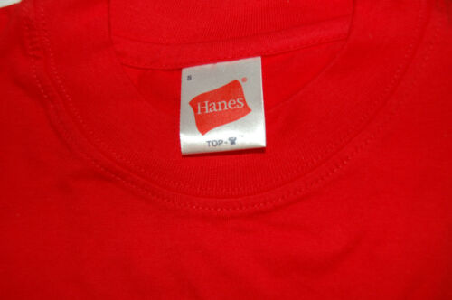 """Brand New Hanes /""""Top T/"""" tee-shirt homme-Taille S-Disponible en Rouge"""