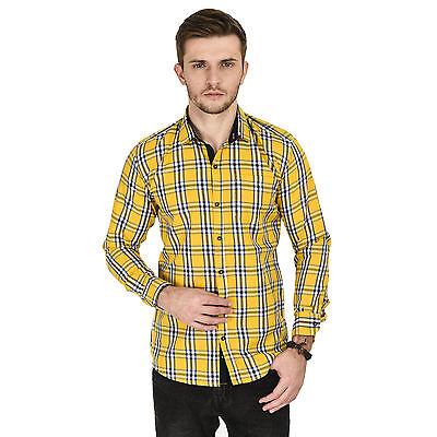 Kaya Deals Men's Casual Yellow Shirt (KMS0026-YELLOW)