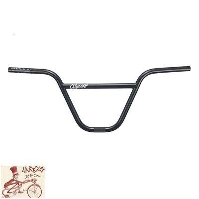"Noir OPS MX II 8/"" Rise CHROME guidon de vélo"