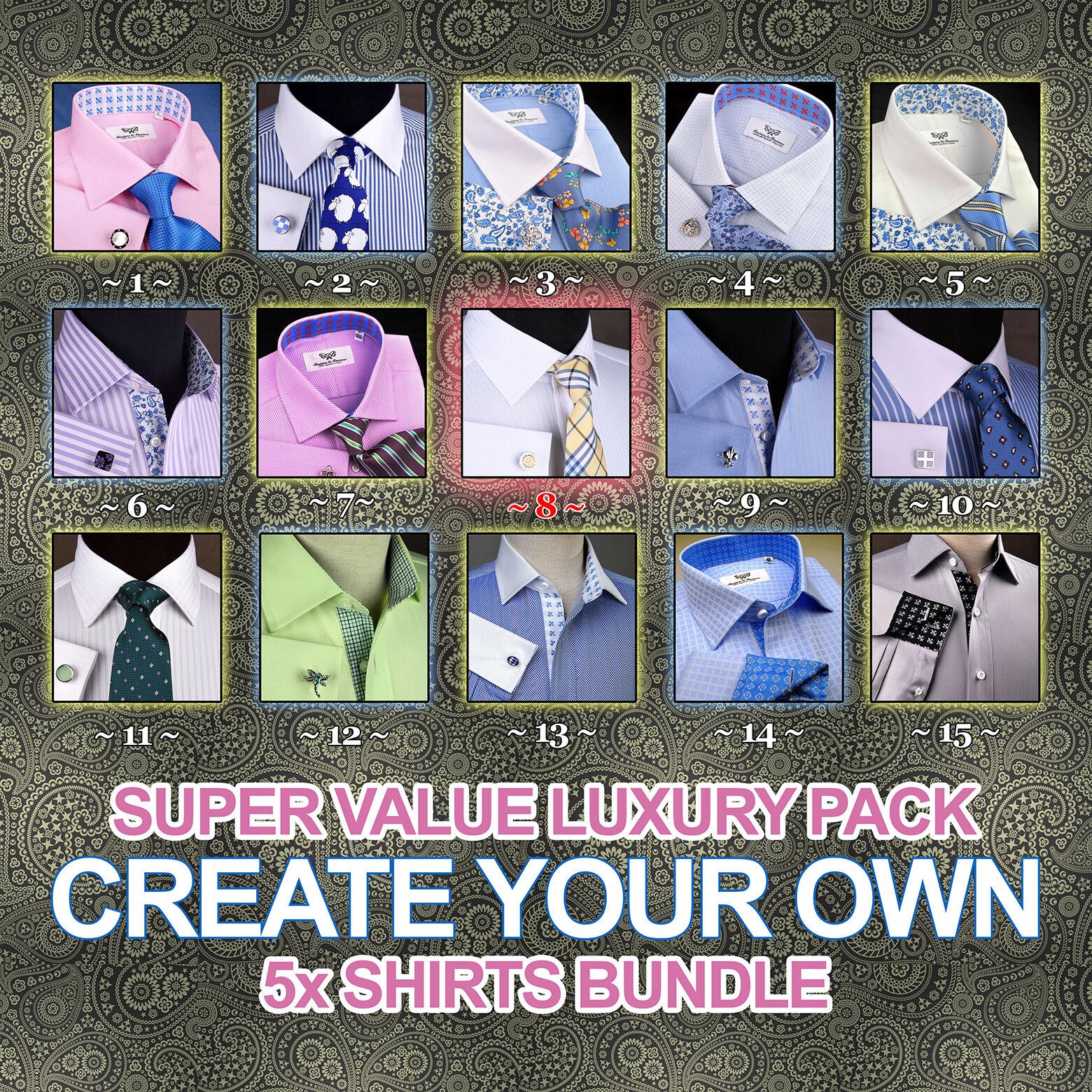 Herren Dress Shirts Formal Luxury Geschäft Egyptian Cotton Designer B2B Fashion XL