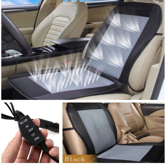 12V Cooling Car Seat Cushion Covers Pad Air Ventilated Conditioned Cooler Chairs