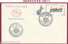 ITALIA FDC CAVALLINO MOSTRA FILATELICA COSTRUZIONI NAVALI 1990 ANN. GENOVA T146