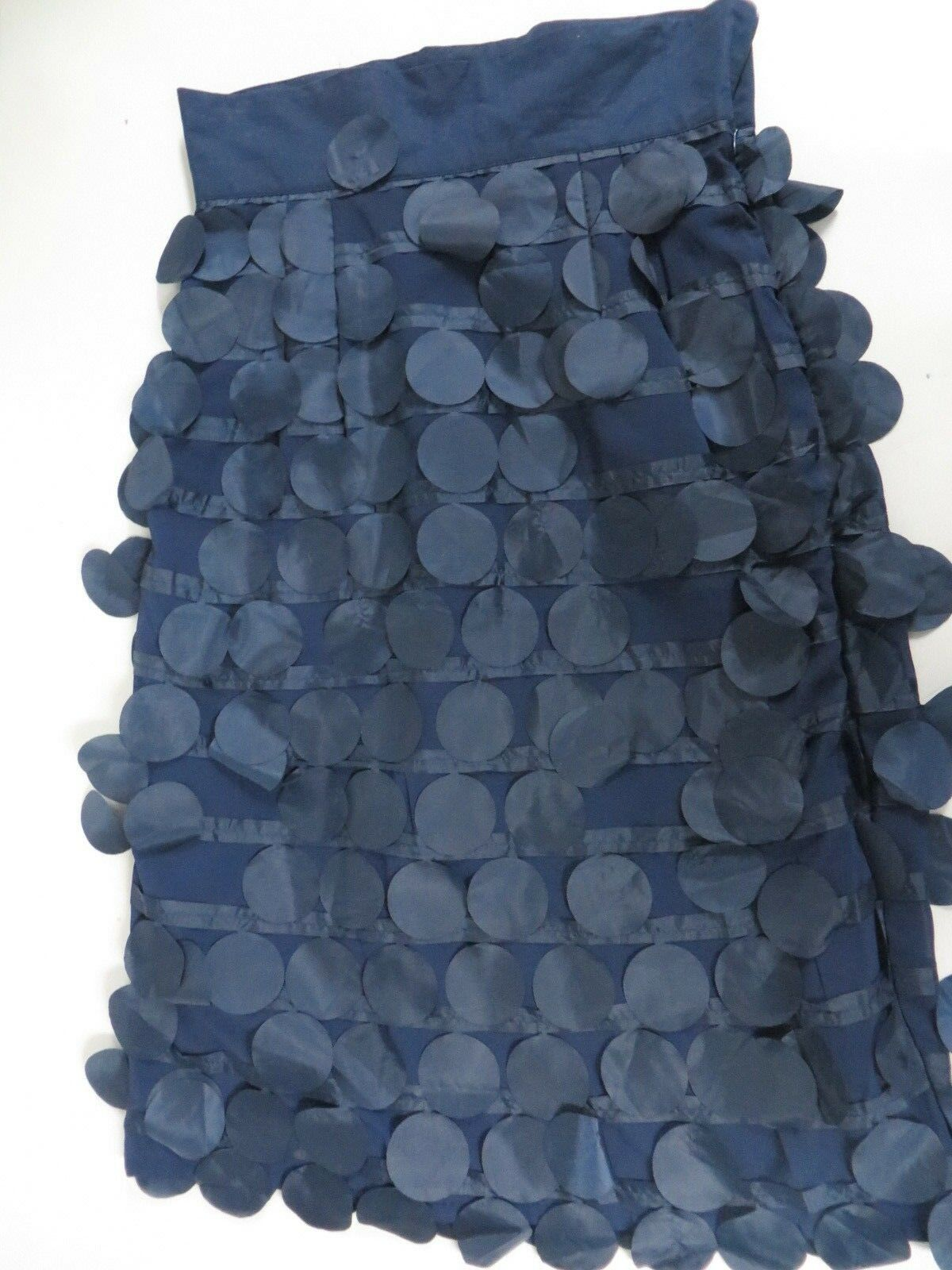 NWT shabby apple Quivering dots midi Skirt Navy 8