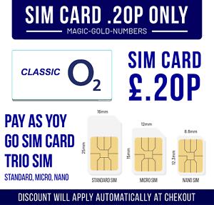 1-x-O2-Pay-As-You-Go-Sim-Card-o2-Classic-PAYG-Standard-Micro-Nano-3p-2p-1p