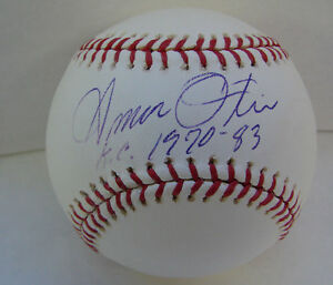 Amos-Otis-Autograph-baseball-KC-1970-83-Kansas-City-Royals-New-York-Mets