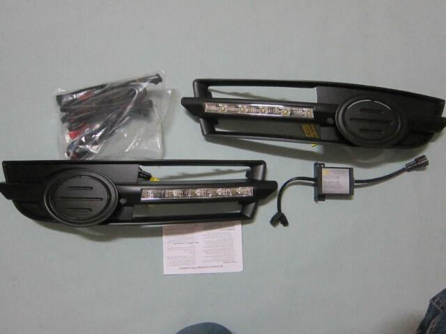 05 06 07 08 Audi A6 S6 Bumper LED Running Daytime Light DRL FOG LAMPS GRILLE