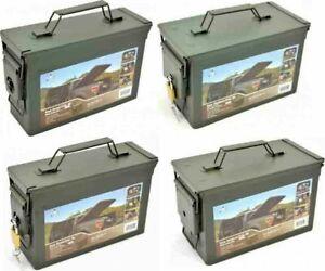 US-Munitions-de-Metal-Olive-Boite-de-Rangement-Transport-Armee-Ammo-Box