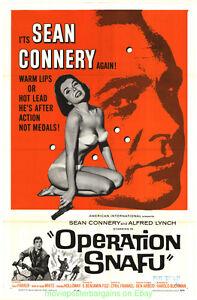 OPERATION-SNAFU-MOVIE-POSTER-Original-Folded27x41-JAMES-BOND-039-S-SEAN-CONNERY-1965