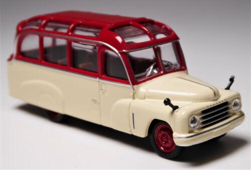 H0 BREKINA Starline models Hanomag L 28 Lohner Bus elfenbein weinrot # 58180