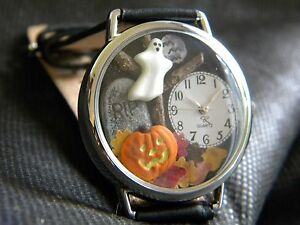 image is loading spooky halloween watch with ghost tombstone pumpkin autumn