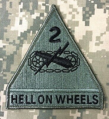 Herzhaft Us Army 2nd Armor Division Hell On Wheels Acu Ucp Klett Patch Klettpatch Moderate Kosten