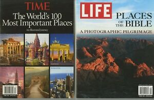 TIME-and-LIFE-Magazine-lot-of-2-WORLD-039-S-100-MOST-IMPORTANT-PLACES