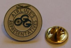 AIRLINES-REPRESENTATIVES-airlines-aviation-vintage-pin-badge