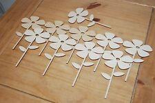 Set 10 pezzi di forma un piccolo fiore Bella Decorazione M6 per decoupage