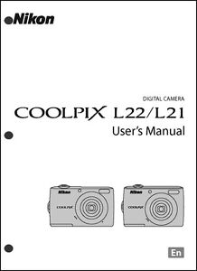 nikon coolpix l21 l22 digital camera user guide instruction manual rh ebay com Nikon Coolpix L22 USB Cable Nikon L22 COOLPIX Camera Cord