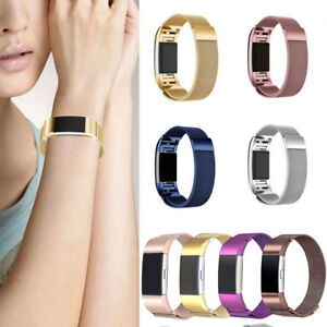 For-FitBit-Charge-2-Metal-Stainless-Milanese-Magnetic-Loop-Replaced-Band-Strap-E