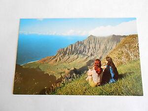 Cool Vintage Kalalau Valley Kauai Island Hawaii Souvenir Postcard