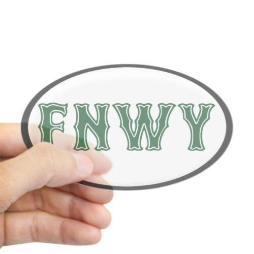 457415081 Euro Oval Car Decal CafePress Fenway Oval Bumper Sticker