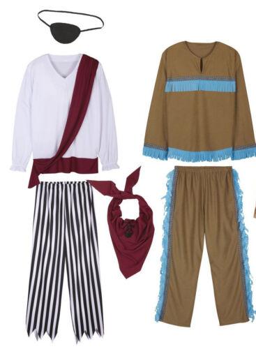 oder 4-teilig Herren Faschingskostüme Fasching Kostüme Kostüm Pirat Indianer 2