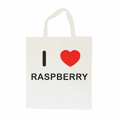 I Love Raspberry - Cotton Bag | Size choice Tote, Shopper or Sling