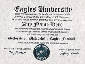PHILADELPHIA-EAGLES-NFL-FAN-CERTIFICATE-DIPLOMA-MAN-CAVE-OFFICE-SB